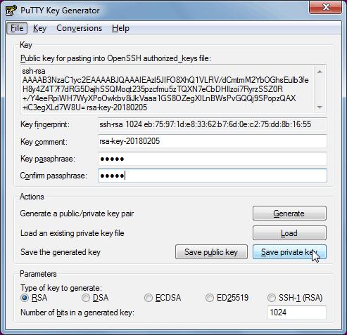 linux generate ssh key pair